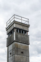 Watchtower on the former border of the GDR, Elbe