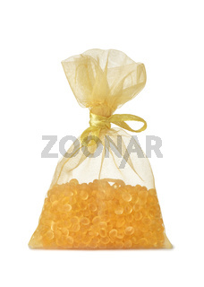 Pouch of aromatic air freshener granules
