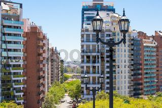 Cordoba Argentina skyscrapers on San Lorenzo Avenue