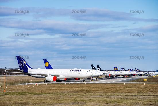 Lufthansa aircraft at Frankfurt Airport