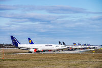 Lufthansa aircraft at Frankfurt Airport