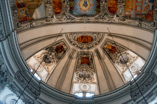 View of the Ceiling in Salzburg Cathedral