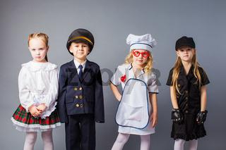 Primary school children choose their future profession