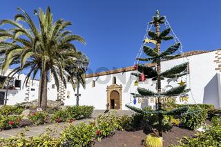 Weihnachtsbaum in Betancuria auf der kanarischen Insel Fuerteventura