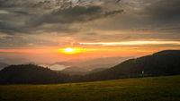 sunset landscape scenery near Kniebis Germany