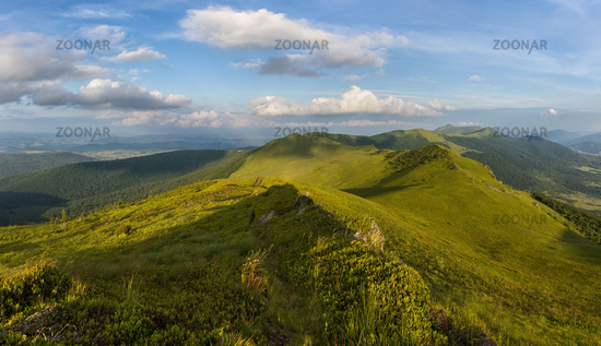 Vododelniy ridge in Carpathians in spring