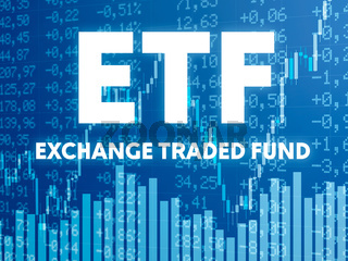 Conceptual image with financial charts and graphs - ETF