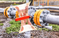 Control valve for crude oil and russian roubles banknote