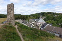 View from the castle ruins to the historic centre of Kronenburg