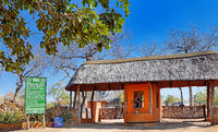Gate of Majete Wildlife Reserve, Malawi