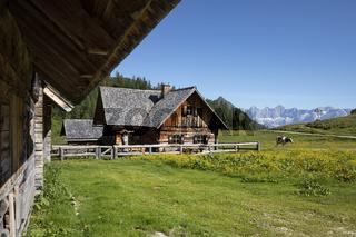 Alte Almhütte in der Steiermark, Österreich, Europa