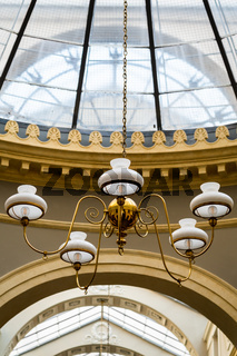 Designer ceiling lamp in a gallery