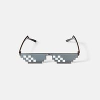 Art pixel glasses for protection from harmful rays.