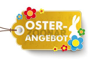 Golden Easter Offer Price Sticker