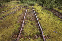 The old tracks of a mine line