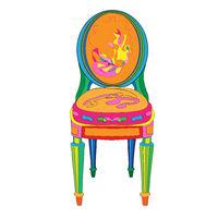 Postmodern Ludovic XVI classical chair