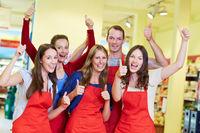 Gewinner-Team im Supermarkt