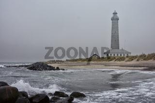 Daenemark Skagen Fyr Leuchtturm