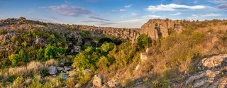 Granite Actovo canyon in the Devil Valley, Ukraine