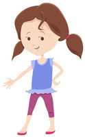 cute girl comic character cartoon illustration