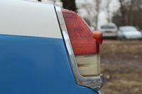 Oldtimer red brake light