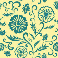 Vector floral ornate seamless pattern.