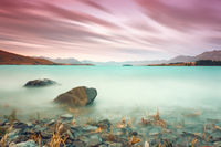 long time exposure at lake Tekapo New Zealand