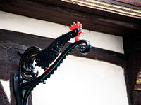 Weather tap at the half-timbered house