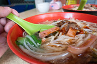 noodles in squid thick soup