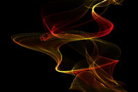 abstract twisted flame