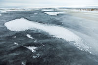 Ice crust on the river