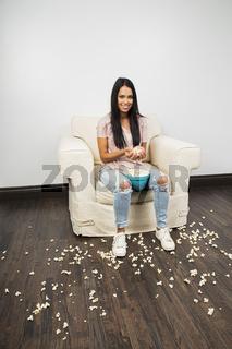 handful of popcorn