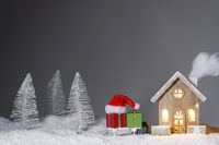 House and Christmas gifts