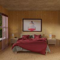 3d render of a bedroom