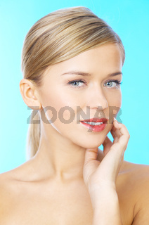 Attractive woman with a thoughtful expression