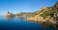 Rocks and sea landscape in Crimea