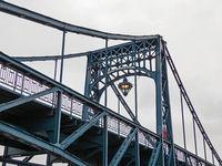 Close-up of the Kaiser Wilhelm bridge, landmark of city Wilhelmshaven, Germany