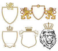 Coat of arms with lions and crowns
