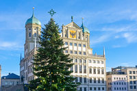 Christmas tree in the city of Augsburg