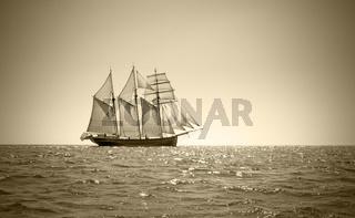 Old three mast schooner