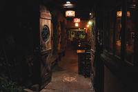 VILLA GESELL,ARGENTINA-MARCH 21, 2018: Interior of a beautiful and cozy irish pub called Old Hobbit