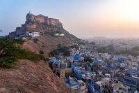 Sunrise over the Blue City Jodhpur, India