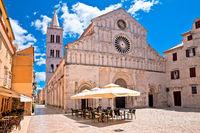 Zadar. Historic cathedral square in Zadar street view
