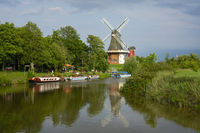 Twins mill at the river of Greetsiel