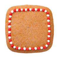 Christmas Gingerbread Cookie In Shape Of Square