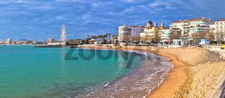 Saint Raphael beach and waterfront panoramic view