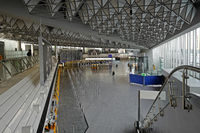 No Passengers in departure hall at rhine main airport frankfurt
