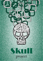 Skull in floral style your concept design.