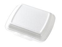 white fast food box