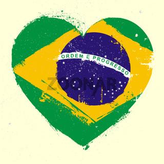 Brazil Heart Grunge